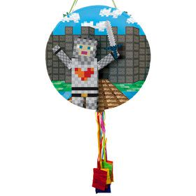 Medieval Pixels Pull String Economy Pinata