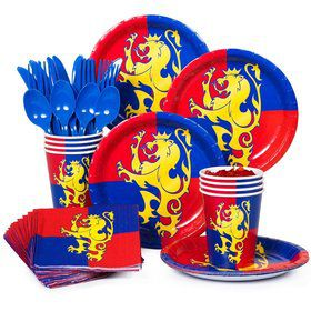 Medieval Standard Birthday Party Tableware Kit Serves 8