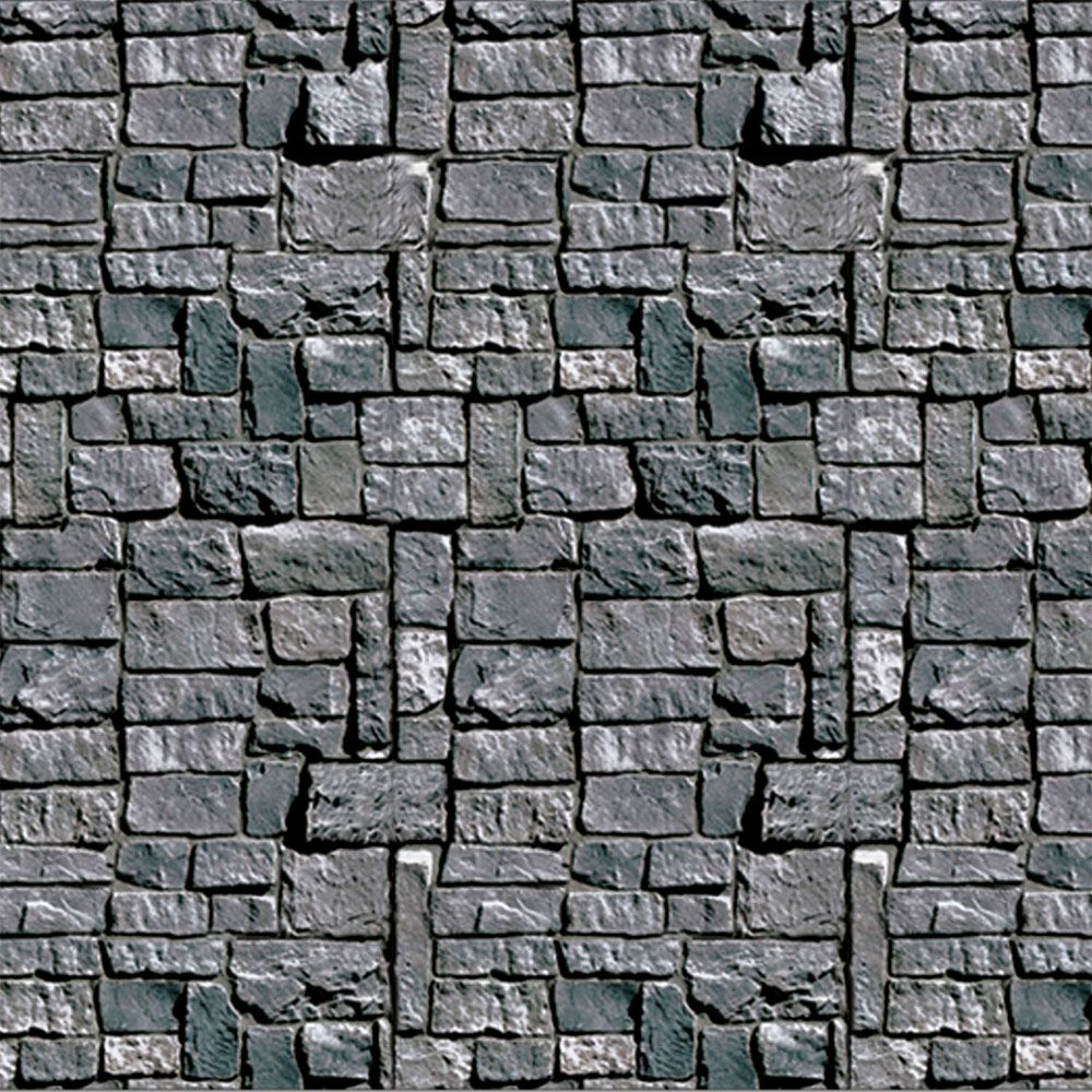 Medieval Stone Wall Backdrop (Each) - Party Supplies