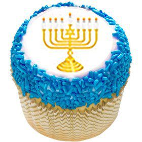 "Menorah 2"" Edible Cupcake Topper (12 Images)"