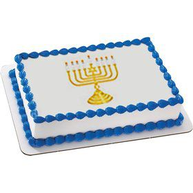 Menorah Quarter Sheet Edible Cake Topper (Each)