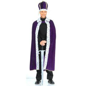 Men's Kings Robe And Crown Set