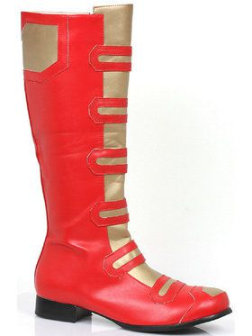 Men's Red Superhero Boots Small 8/9