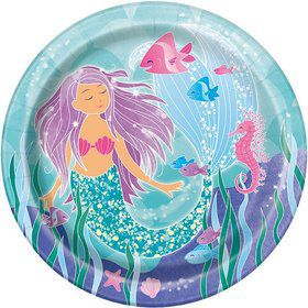 "Mermaid 9"" Lunch Plate (8)"
