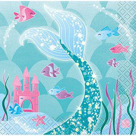 Mermaid Beverage Napkin (16)