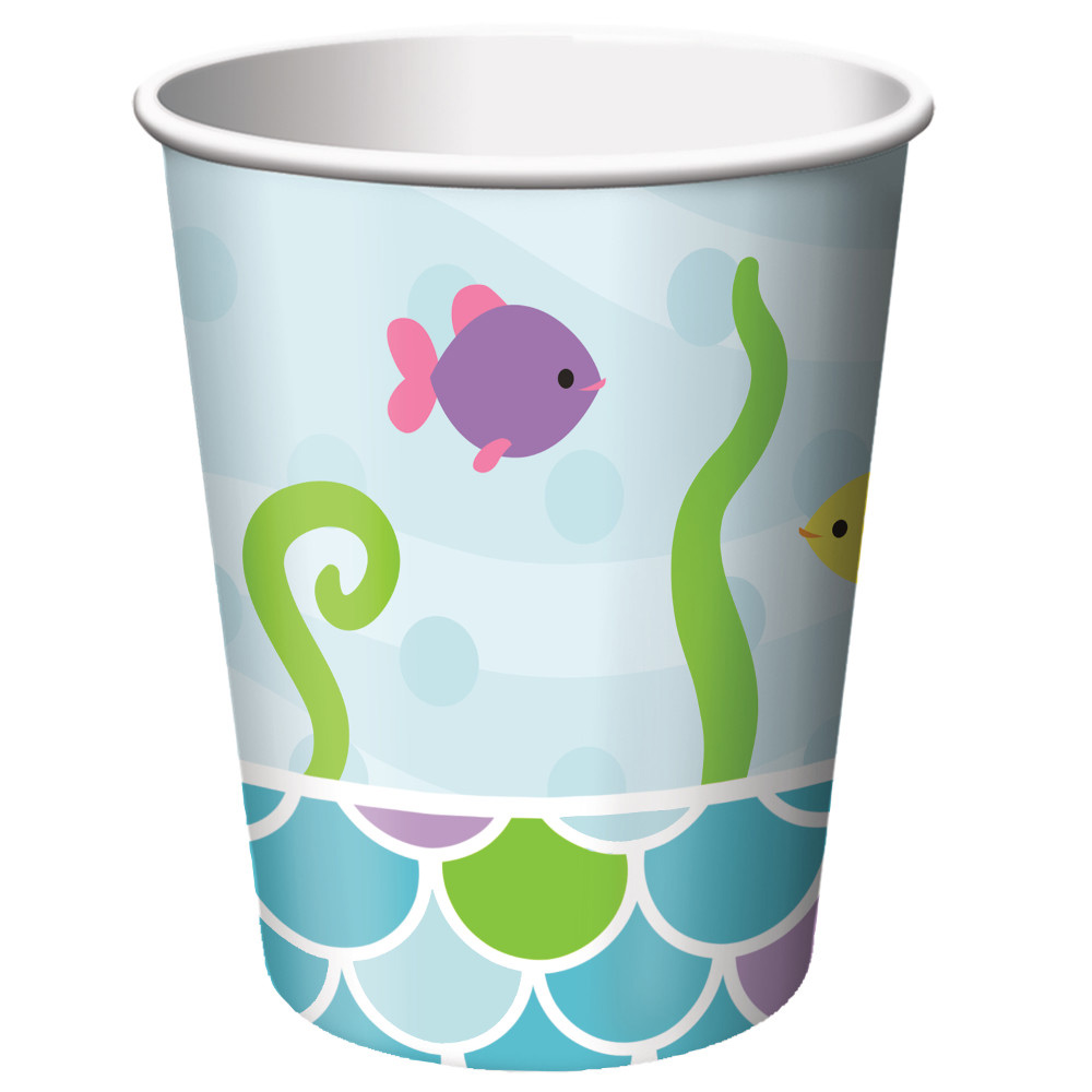 Mermaid Friends 9 oz Cups (8 Count) - Party Supplies BB317265