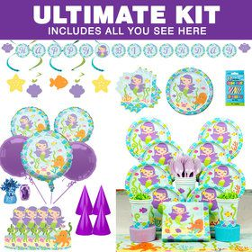 Mermaid Friends Birthady Ultimate Tableware Kit (Serves 8)
