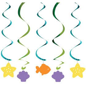 Mermaid Friends Hanging Decorations (5 Count)