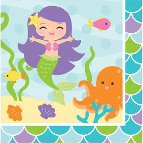 Mermaid Friends Lunch Napkins (16 Count)