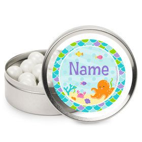 Mermaid Friends Personalized Mint Tins (12 Pack)