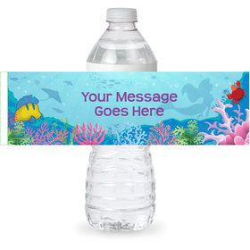 Mermaid Personalized Bottle Labels (Sheet of 4)