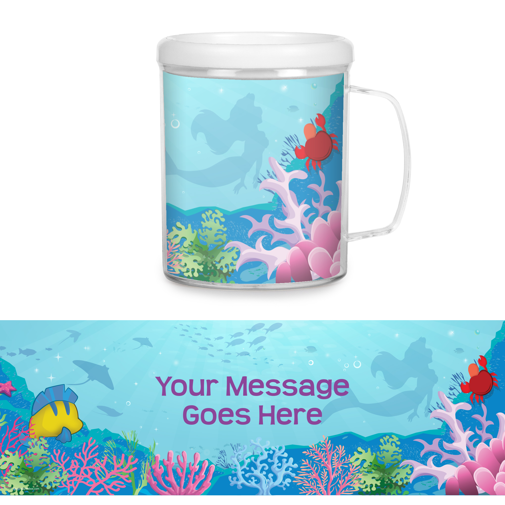 Mermaid Personalized Favor Mugs (Each) - Party Supplies BB1331CUP