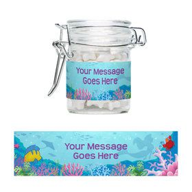 Mermaid Personalized Glass Apothecary Jars (12 Count)