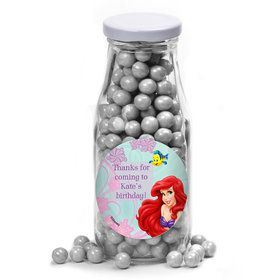 Mermaid Personalized Glass Milk Bottles (12 Count)
