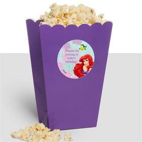 Mermaid Personalized Popcorn Treat Boxes (10 Count)