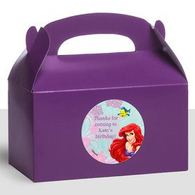 Mermaid Personalized Treat Favor Boxes (12 Count)