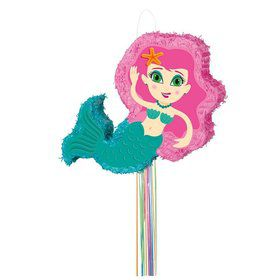 Mermaid Shaped Pull Pinata