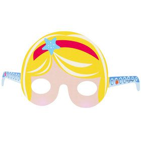 Mermaid Tiara Paper Masks One size