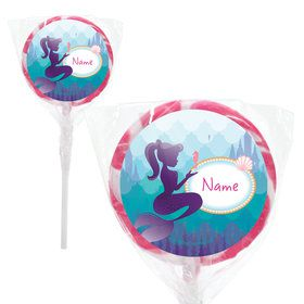 "Mermaid Under the Sea Personalized 2"" Lollipops (20 Pack)"