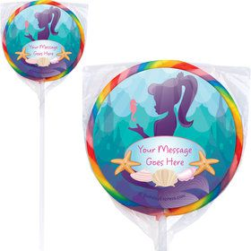 Mermaid Under the Sea Personalized Lollipops (12 Pack)