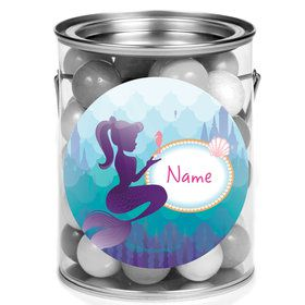 Mermaid Under the Sea Personalized Mini Paint Cans (12 Count)