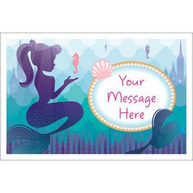 Mermaid Under the Sea Personalized Placemat (Each)