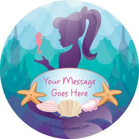 Mermaid Under the Sea Personalized Stickers (Sheet of 12)