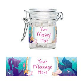 Mermaid Under the Sea Personalized Swing Top Apothecary Jars (12 ct)