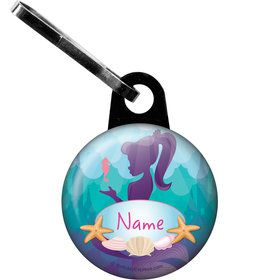 Mermaid Under the Sea Personalized Zipper Pull (Each)