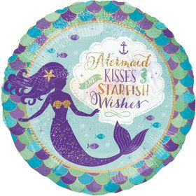 "Mermaid Wishes 18"" Balloon (1)"