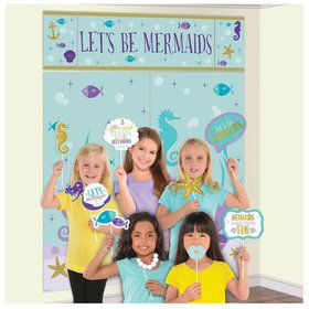 Mermaid Wishes Scene Setter with Photo Booth Props