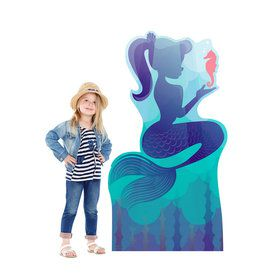 Mermaid with Seahorse Standee
