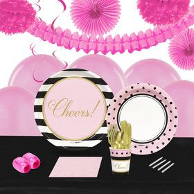 Cheers to You 16 Guest Tableware Deco Kit