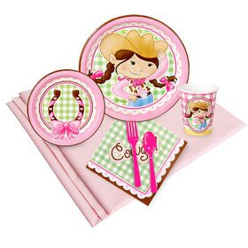Pink Cowgirl Party Pack for 24