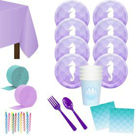 Mermaids Under the Sea Deluxe Tableware Kit (Serves 8)