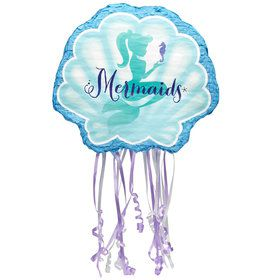 Mermaids Under the Sea Pull String Pinata