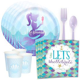 Mermaids Under the Sea Standard Tableware Kit (Serves 8)
