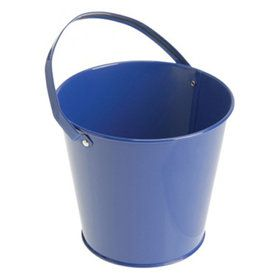 Blue Metal Buckets (6)
