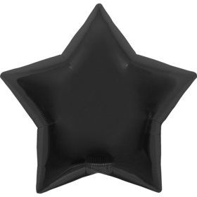 "Metallic Black Star 18"" Balloon (EACH)"
