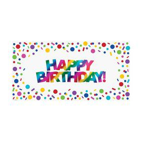 Metallic Rainbow Large Happy Birthday Banner