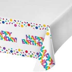 Metallic Rainbow Plastic Tablecover