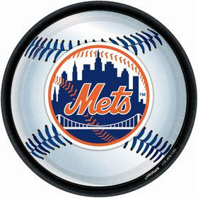 "Mets Plates, 9"" (18 Pack)"