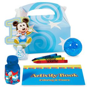 Mickey 1st Birthday Favor Box (4-Pack)