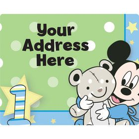 Mickey 1st Birthday Personalized Address Labels (Sheet of 15)