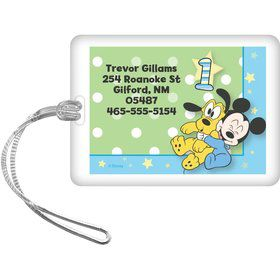 Mickey 1st Birthday Personalized Luggage Tag (Each)