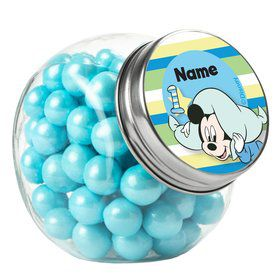 Mickey 1St Birthday Personalized Plain Glass Jars (10 Count)