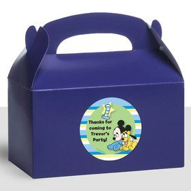 Mickey 1St Birthday Personalized Treat Favor Boxes (12 Count)