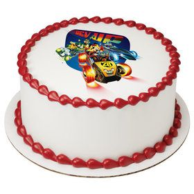"Mickey And The Roadster Racers 7.5"" Round Edible Cake Topper (Each)"