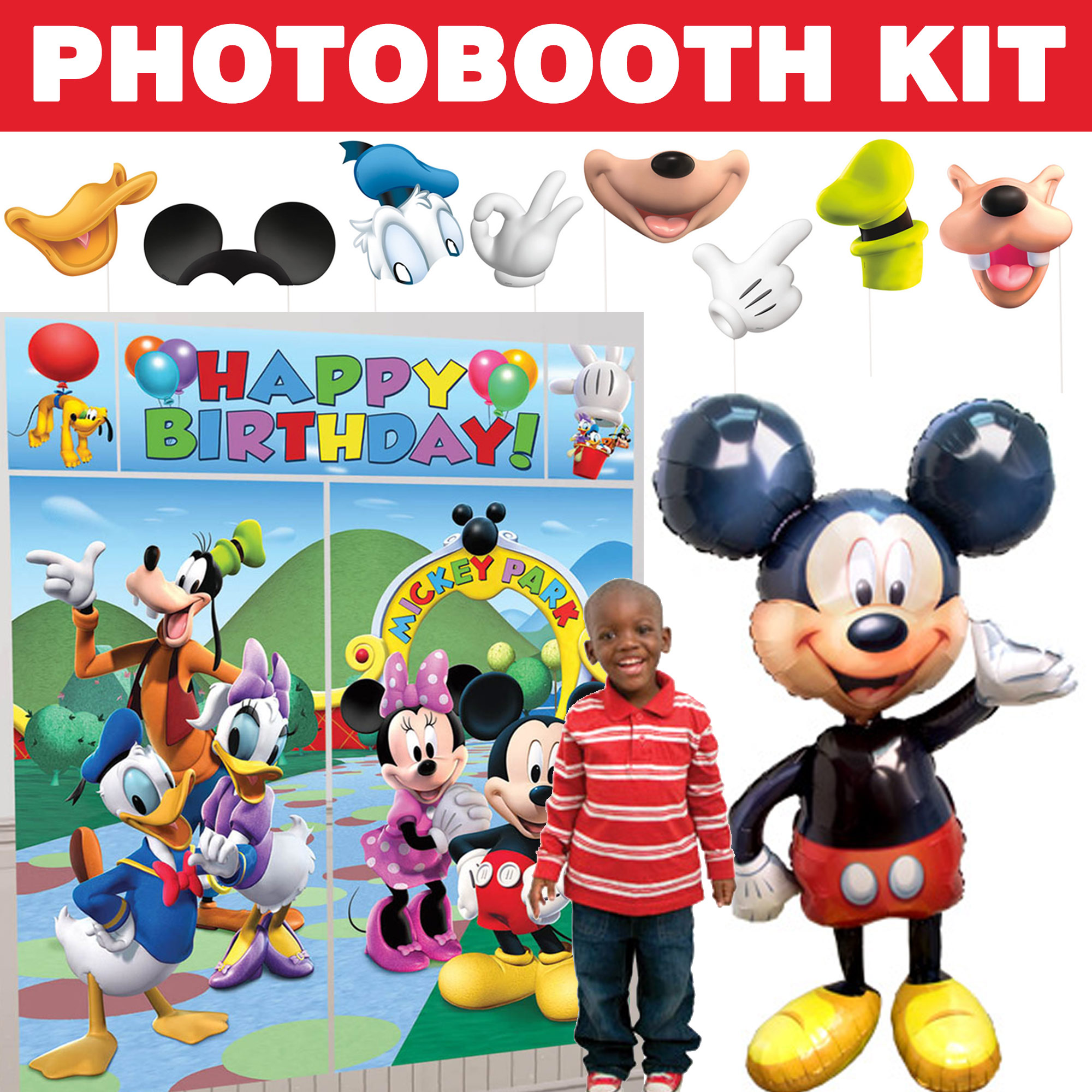 Mickey Clubhouse Deluxe Photo Booth Kit BBKIT1032D