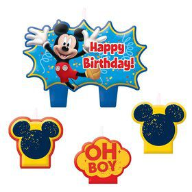 "Mickey Mouse 1 1/4"" Molded Cake Candles (4 Pack)"